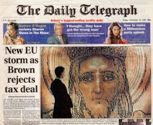 'millennium man' - telegraph cover