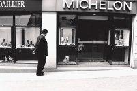 dog in window, montpellier, france